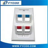 120 Type Face Plate 45 Degree 4 Port