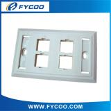 4 Ports 120 type Face plate with windows