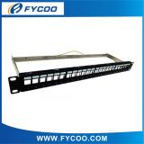 FTP  Blank Patch Panel with Back Bar 24 ports