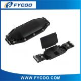 Fiber Optic Splice Closure Horizontal type two inlets/outlets(2Entry 2Exit PC Material Half type streamline design)