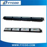 Cat.5e UTP 24 Ports Patch Panel (4 Equal Part)