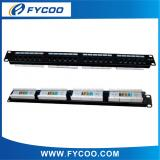 Cat.5e UTP 24 Ports Patch Panel (Double USE End) factory