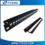 UTP Blank Patch Panel with Dust Cover & Removable Back Bar,24 Port