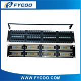 Cat.5e UTP 48 Ports Patch Panel With Bar(Double USE End )