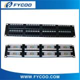 Cat.5e UTP 48 Ports Patch Panel(Double USE End)