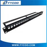 24 Ports Blank Patch Panel with Back Bar
