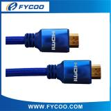 HDMI M TO M cable Metal casing type Aluminum alloy outer mold , shell color have blue、red、gold、silver