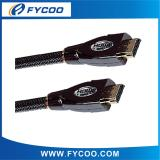 HDMI M TO M cable Metal casing type Black Chromium metal casing outer mold